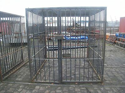 Heavy Duty Steel Security  / Gas Bottle Cage  Dog Compound