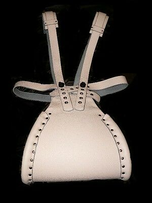 Adult Sissy Body Harness genuine leather speading diaper straps harness Lockable