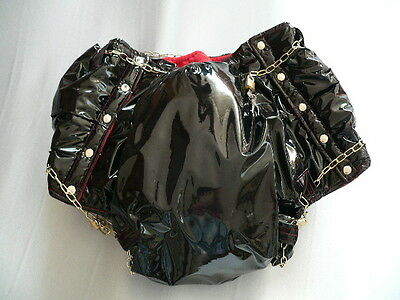 Adult Sissy Baby diaper Rubber with snaps Windelhose Gummi Hose lockable