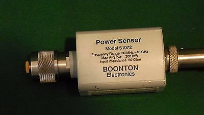 Boonton Power Sensor Head 51072 30 MHz-40 GHz