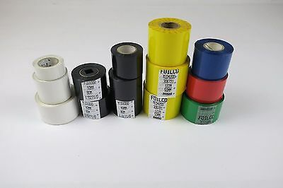 JOB LOT - 13 x Rolls of Spot Coloured Foils used for Hot Stamping Machines