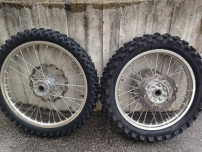 Coppia Ruote Complete Honda Cr Crf Complete front And Rear wheel