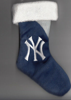 New York Yankees 8 inch Mini Stocking Ornament with logo
