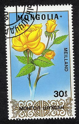 1988 Mongolia 30m Roses Meilland SG 1921 FINE USED R21612