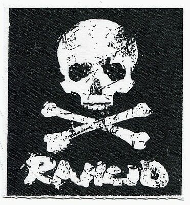 RANCID skull & crossbones CLOTH PATCH sew on **FREE SHIPPING** let's go wolves