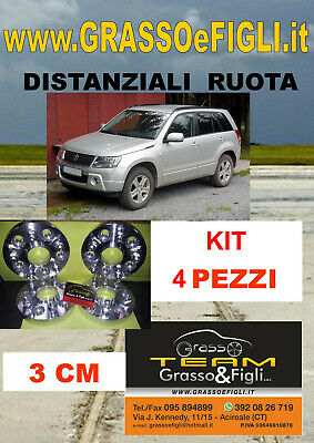KIT 4 Distanziali Ruota SUZUKI GRAND VITARA JT 2006> 5x114,3 30mm Wheel Spacers