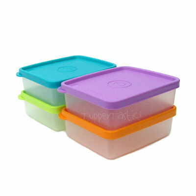 Tupperware Snack On The Go mini Square Away Set of 2