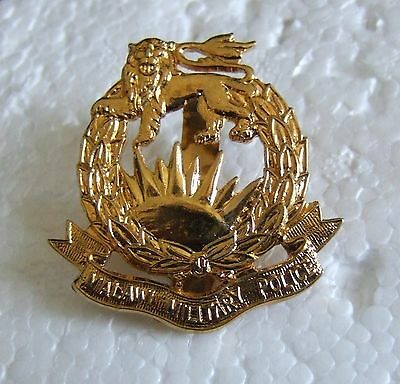 OBSOLETE AFRICA MALAWI ARMY MILITARY POLICE NCO's CAP BADGE