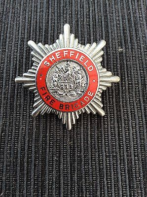 fire brigade cap badge - Sheffield