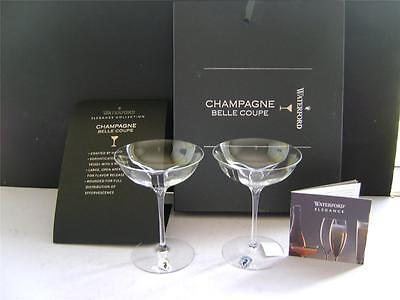 Stunning Pair of Crystal Champagne Glasses by Waterford.