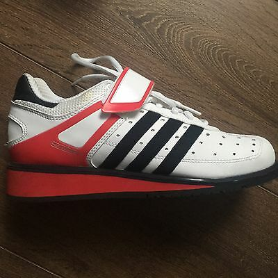 Adidas Power Perfect II Weightlifting Powerlifting Shoes Trainers Size 5 White