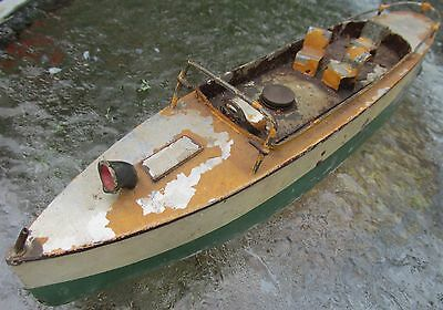 Ives USA clockwork speed boat works bing c1920 10+ inches