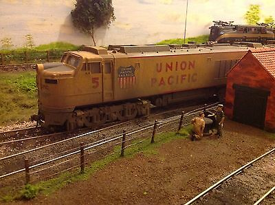 MTH UNION PACIFIC No 5 GAS TURBINE SET WEATHERED 2 RAIL DC