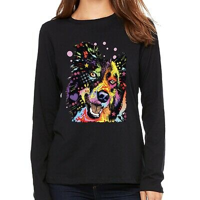 Velocitee Ladies Vest Psychedelic Chihuahua Dog A18494