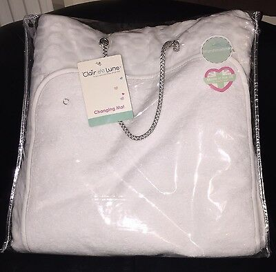 New Clair De Lune Marshmallow White Padded Baby Changing Mat With Cover