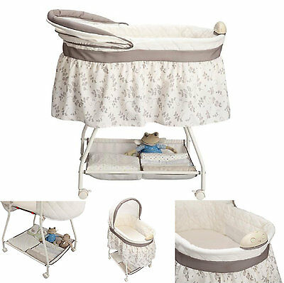 Portable Baby Bassinet Infant Sleeper Nursery Newborn Crib Rocking Cradle
