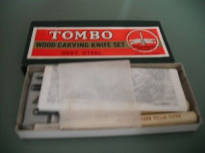 Tombo Wood Carving Knife Set Vintage