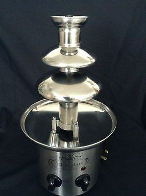 Stainless Steel Chocolate Fondue Fountain Excellent Condition