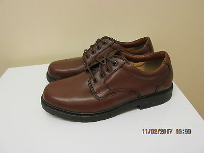 Mens Clarks Cushion Cell Leather  Shoes Brown Uk Size 8.5 Vgc