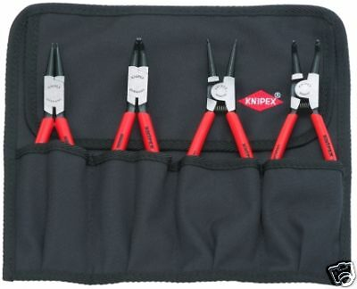 Knipex 00 19 56 Circlip Plier Set 4 Piece in Tool Roll 44 11 J2 21 J21 46 A2 A21
