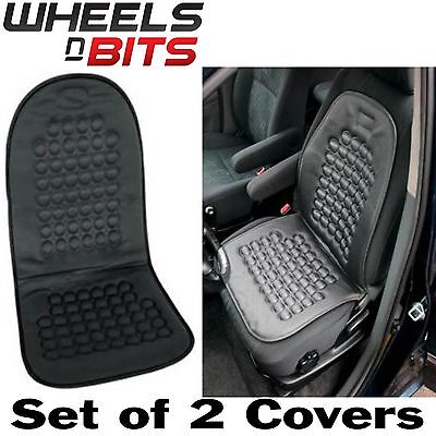 2x Magnetic Health Circulation Car Taxi Seat Cushion Back Massage Lumbar Therapy