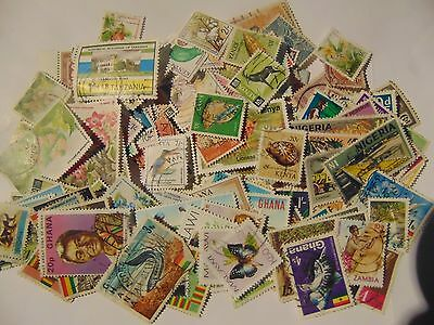 B/Commonwealth a collection of 160 different used    stamps as picture off paper