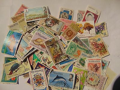 B/Commonwealth a collection of 90+ different used    stamps as picture off paper