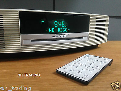 Bose Wave Cd Radio Alarm Clock Music System & Remote