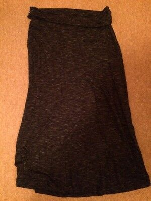 Gap Maternity Navy 'specked' Long Skirt Size Small S 8-12