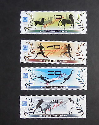 Cyprus 2004 Olympic Games Athens SG1075/8 op Specimen MNH UM Unmounted Mint (M)