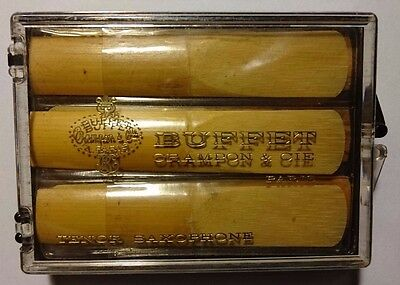 NEW OLD STOCK!! BUFFET CRAMPON & CIE - TENOR SAXOPHONE REEDS No.2 - 5  Box of 12