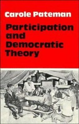 Participation and Democratic Theory by Pateman  Carole Paperback New  Book