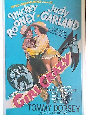 Movie Poster Judy Garland GIRL CRAZY Mickey Rooney 40s A3 Repro Classic Films