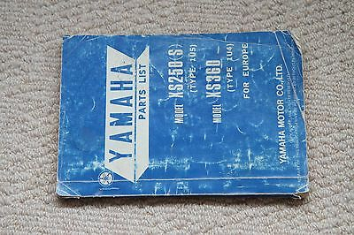 Yamaha Xs250 Xs360 Genuine Factory Pats List 1976