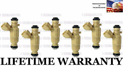 Genuine Set Of 6 Fuel Injectors For Kia Optima Rondo Hyundai Santa fe 2.7L V6