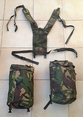 British army bergen side pockets & daysack yoke in DPM camouflage