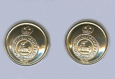 2 Royal Regiment Of Fusiliers Brass Buttons