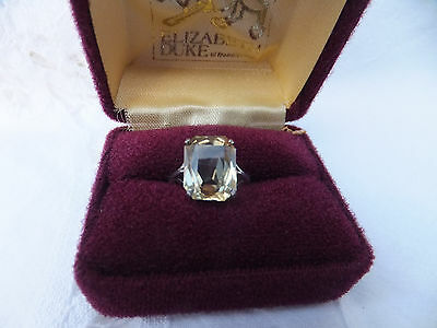 Old Ward Brothers Sterling Silver Ring with Beautiful Citrine? Stone