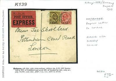 K139 1910	Haslemere Express Letter/London