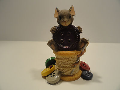 """Charming Tails """"You're Cute As A Button """" Figurine"""