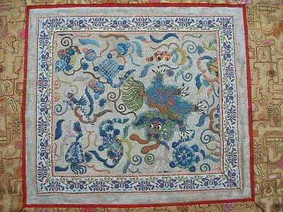 Beautiful Antique Chinese Silk Embroidered Panel.