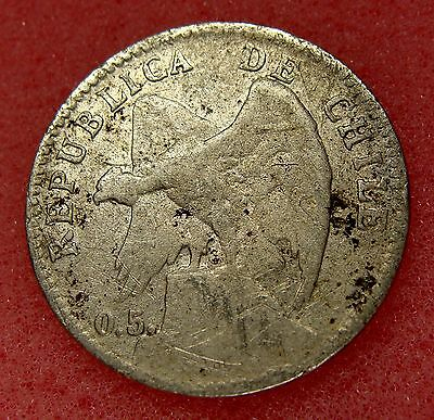 Chile, 20 Centavos 1907, Km# 151.3, Nice Silver Coin, Lot 6