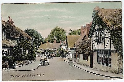 Postcard Horse & Carriages Thatched Cottages Shanklin Old Village Isle of Wight