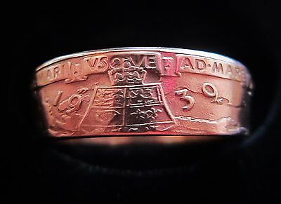 Coin Ring 1939 Canada King and Queen tour Bronze medal size 11 3/4