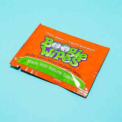 Boogie Wipes - Individually Wrapped Wipes for Infant Noses - Pack of 6, 12 or 20
