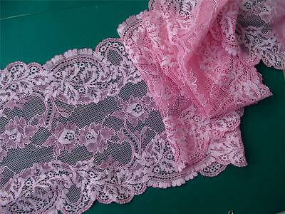 14 feet of two tone Pink  French Edwardian Galloon Lace Top Quality last Lot