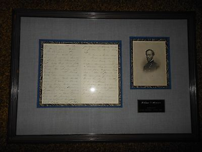 Civil War General William Tecumseh Sherman Signed Letter Nov 11 1866 Susquehanna