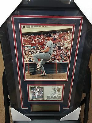 Boston Red Sox Roger Clemens Autographed Cachet Framed With 8X10 Photo W/coa