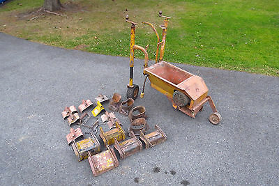 Curb King twin auger curbing machine w/ many profiles landscape concrete edging