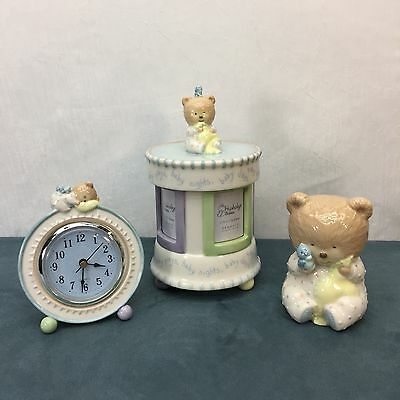 Baby Nursey Shower Gift Set Music Trinket Box Nightlight Clock Hushabye Babies